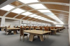 Studiezaal in de nieuwe bibliotheek
