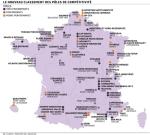 Overzicht uitslag individuele audits Franse pôles (Bron: Les Echos)