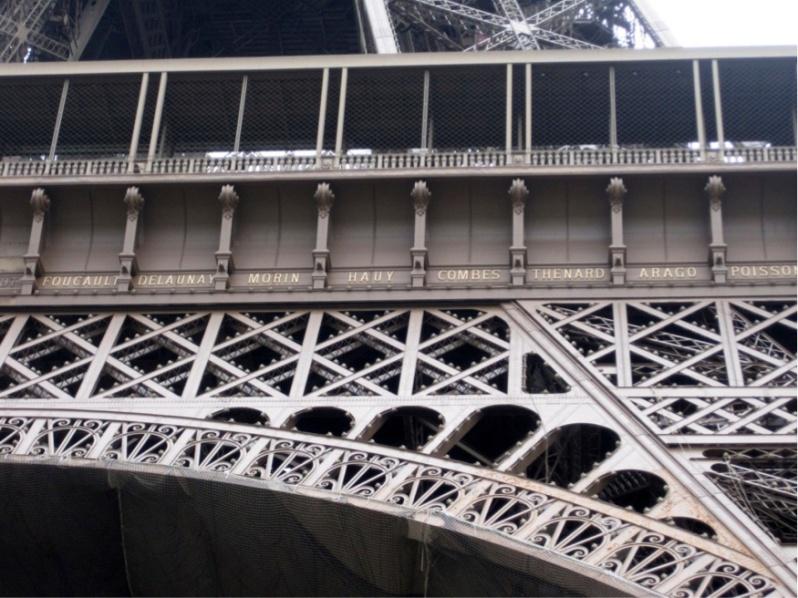 Namen op Eiffeltoren