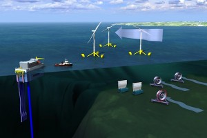 Kaart met de mariene energie-activiteiten van DCNS, bron: DCNS
