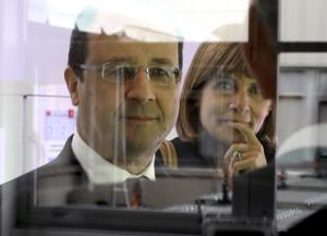 President François Hollande en Anne Lauvergeon ©Stéphane Lemouton/Maxppp