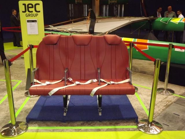 De High Tech vliegtuigstoel