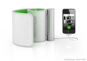 Withings technologie voor het meten van hartslag, bloeddruk, beweging, etc. Bron: L'Usine Nouvelle