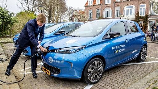 King Willem Alexander bidirectional charging Utrecht 21 March resize2x